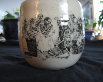 Dancing day of the dead mug