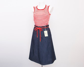 high waist denim A line Skirt NOS Vintage size S