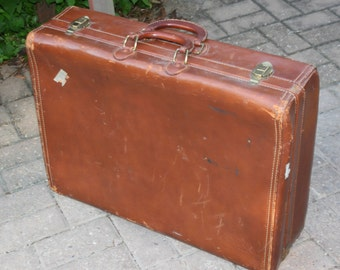 Hartmann Leather Suitcase - Full Size - Genuine Leather - Double Handle