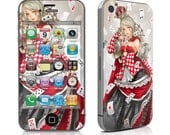 Queen of Cards Mobile Phone Skin - Different phone models possible!