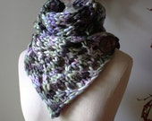 Knitting Pattern / Cowl Chunky Oversized Lace / Ziguette / PDF Digital Delivery