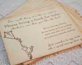 Bring a Book Insert Card Baby Shower Invitation Insert Winnie the Pooh For Baby