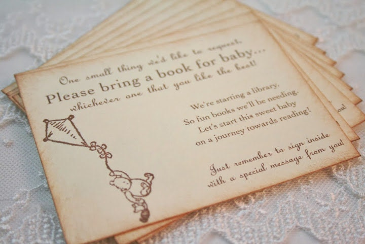 Bring A Book Insert Card Baby Shower Invitation By Babyonthewings, Baby  Shower Invitations
