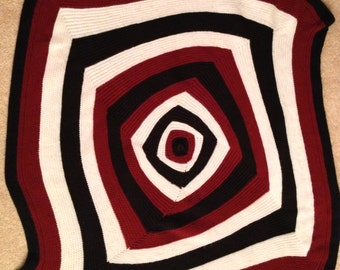 Red, White and Black Table Runner or Lap Quilt