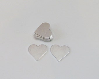 "3/4"" Hearts blanks- 20 gauge -Premium Aluminum - Hand Stamping blanks and craft supplies"