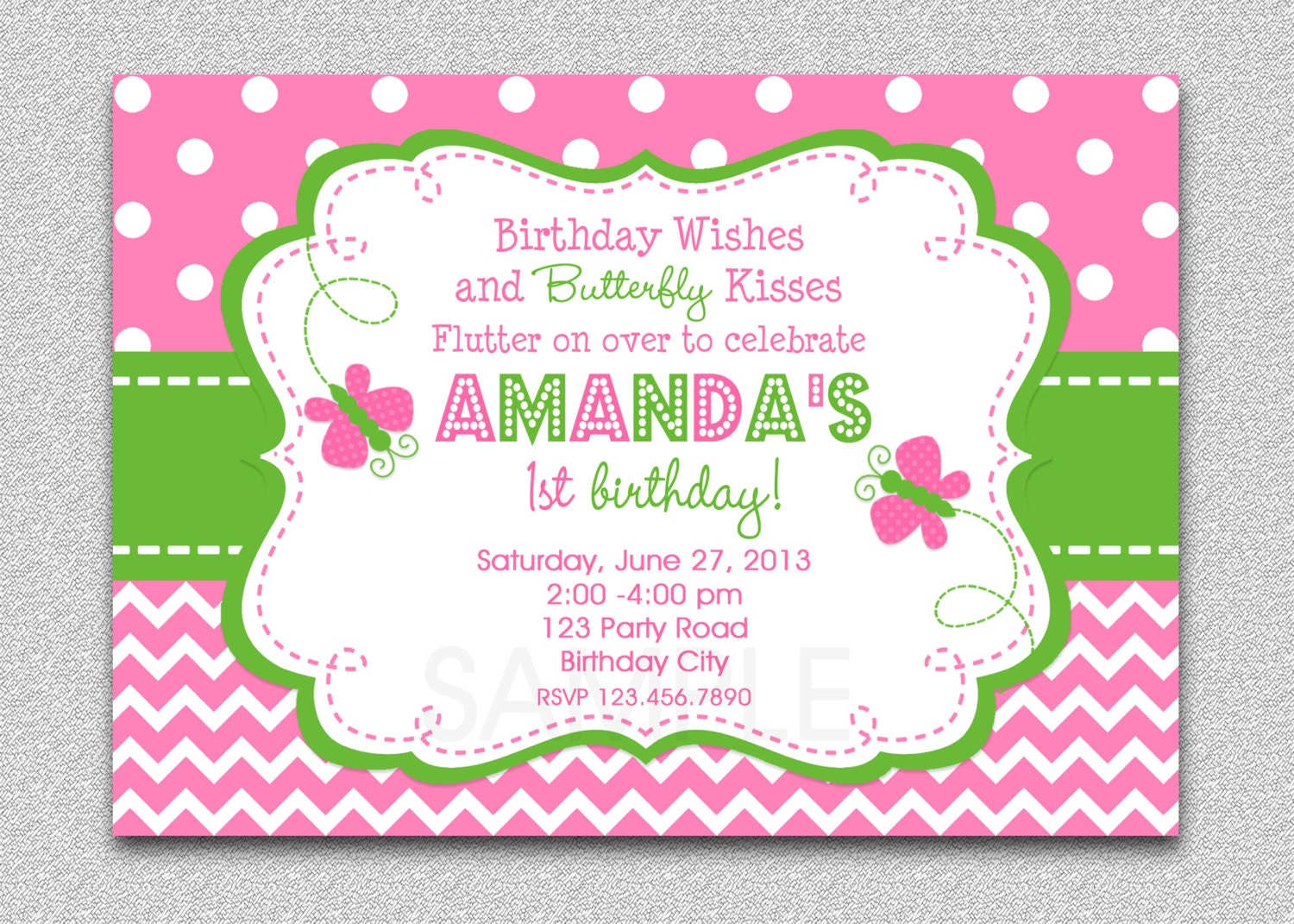 Butterfly Birthday Invitation Butterfly Birthday Party
