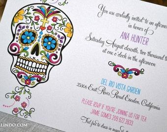 DIY Printable Day of the Dead Invitation digital file