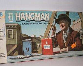 Hangman Game by Milton Bradley 1976, Board Game, Hang Man