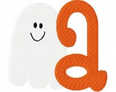 Happy Little Ghost Monogram Machine Embroidery Font Design Set INSTANT DOWNLOAD