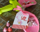 "INSTANT DOWNLOAD - Valentines Day Printable Tags - ""I Dig You"" -  Petite Party Studio"