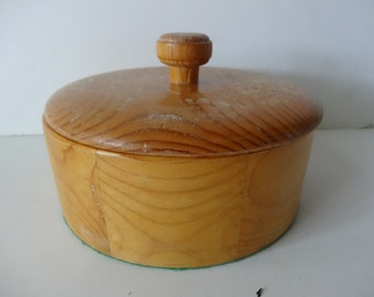 Vintage Round Wood Container