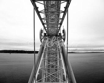 Seattle- Ferris Wheel Metalwork- Fine Art Photography