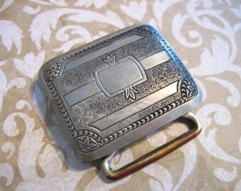 Art Deco Silver Decorative Belt Buckle