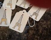 Eiffel Tower Gift Tags  - Handmade