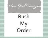 Rush My Order Ava Girl Designs