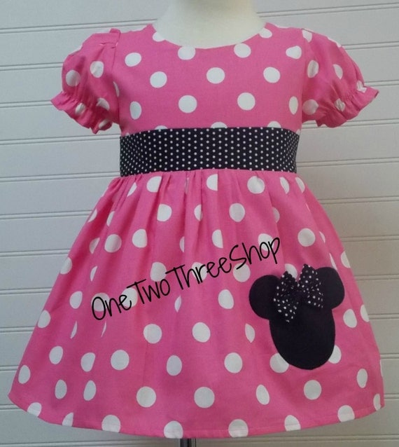 Minnie Mouse Dress Custom Boutique Clothing Med Bubble Gum Puffy Sassy Girl