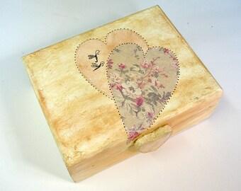 Wedding Ring Box / Ring Bearer Pillow / Maid of Honor Gift /  Keepsake Box / Memory Box