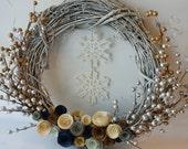 Winter Wonderland Snowflake - Natural Grapevine - 14 inch