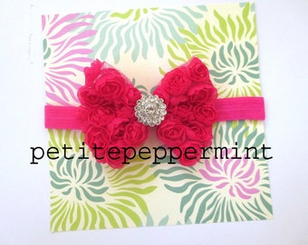 Baby headband - Hot Pink Bow Headband