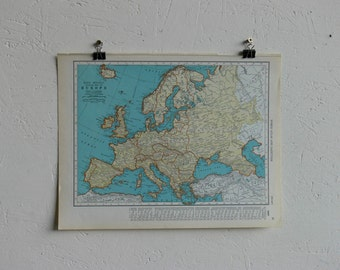 Vintage Map-Europe-Early 20th Century