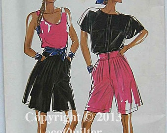 Misses' Shorts, New Look 6145 Sewing Pattern UNCUT, Sizes 8-18