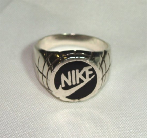 Vintage 70 S Man Ring Sterling Silver Nike With By Gypsyseller