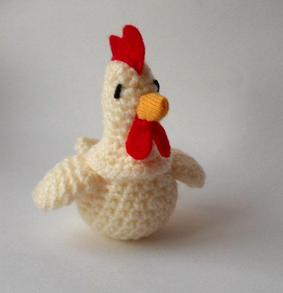 Gallina Amigurumi Uncinetto : Pollo amigurumi uncinetto gallina pollo peluche in