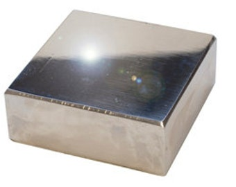 Polished Steel Bench Block for Metal STamping- 2  1/2  x 2  1/2  x 3/4 -A Must Have For Metal Work
