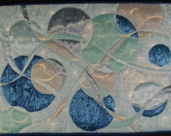 Handmade Art Quilt - Many Moons