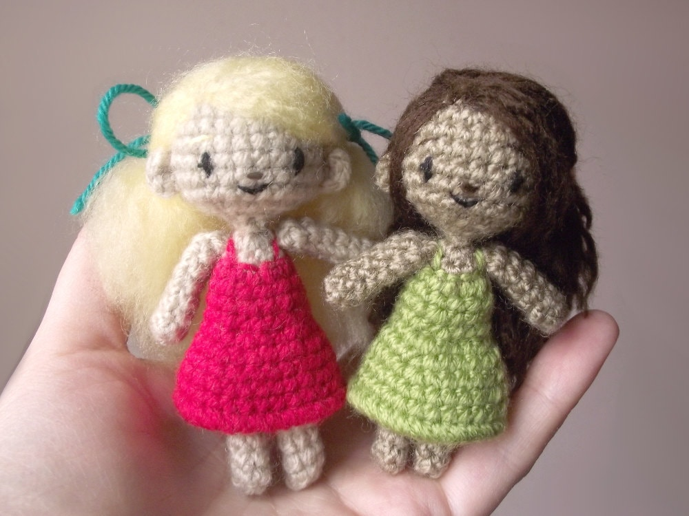 Crochet Mini Doll Pattern : Sidonie the tiny crocheted doll - pattern PDF from ...