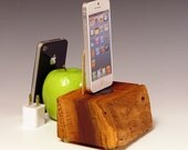 Walnut dock for any iPhone including 6 and 6 plus.. INCLUDES wall charger. 571. Stunning grain and color. Sustainably harvested.