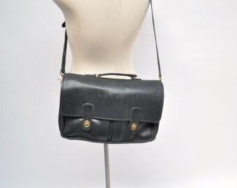 COACH vintage leather bag belting satchel attache tote briefcase tote DISTRESSED messenger
