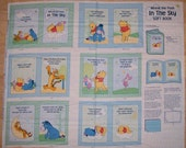 An Adorable Winnie The Pooh In The Sky Book Fabric Panel Free US Shipping