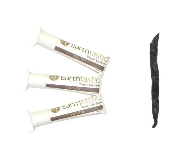 Vegan Lip Balm - Vanilla. Natural. Eco Friendly. Mother's Day. Paper tube.