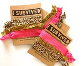 1 Set of 1,2 or 3 Hair Ties Bachelorette Party Favors Accessories Small Gift  Her Bridesmaids Leopard Print Glitter Hot Pink Creaseless