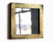 Small Antique Glass Mirror, Gold Frame