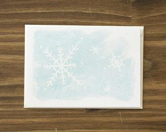 snowflakes winter holiday card