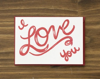 red i love you script