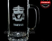 Beer Gifts for Men Dad Father - Personalized SOCCER BEER MUG - 16oz Etched Glass Football Hockey Basketball Sports Beer Mugs Ships to Canada
