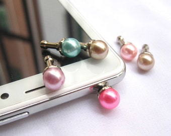 10pcs Universial Pearl Dust Plug 3.5mm for iPhone 4/4s 5/5s/5c Samsung Galaxy Note - Pick Your Color