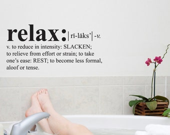 Wall Decals Wall Words Art Wall Stickers Vinyl Lettering - Relax