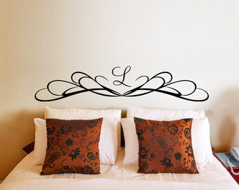 Headboard Wall Decal Customized with Your Initial
