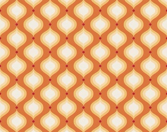 Riley Blake Flutter Cottons Orange Petals Fabric 1 yard