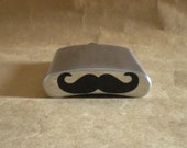 Mustache Black Vinyl Mustache added to bottom of Stainless Steel Flask KR2D6827