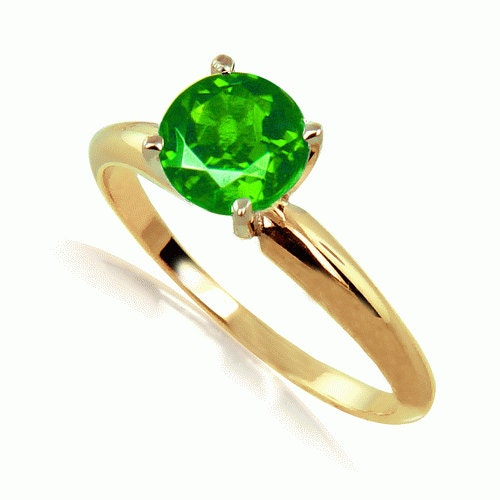emerald ring 14k yellow gold