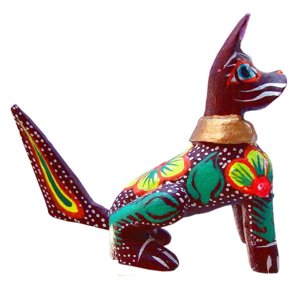 Dog wood carving mexican carvings oaxacan animals by fireagate