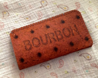 Samsung Galaxy S4 S3 Case Sleeve Pouch Bourbon Biscuit Case - Custom fitting on all smartphones