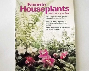 House Plant Book Vintage Better Homes and Gardens 1976