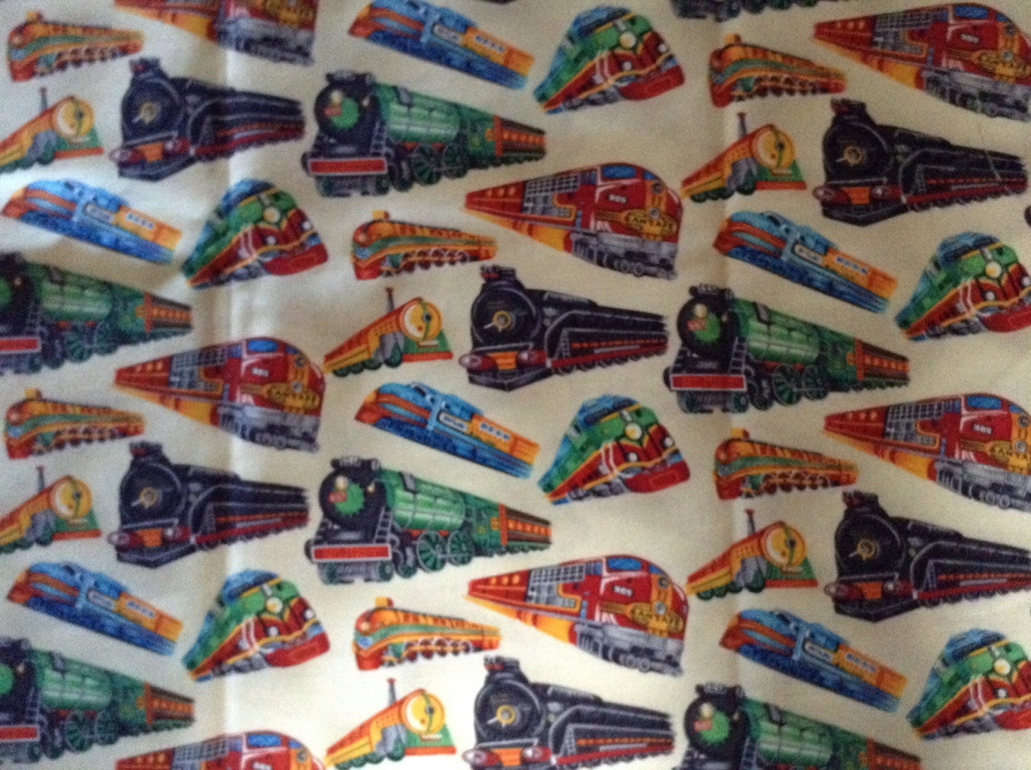 Trains quilter quality fabric out of print fabric for Train print fabric