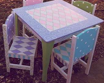 Last 1 order will be taken for Christmas delivery  Kids Table  Chairs Set, Retiring all Table Sets,  A choice 2 chairs Kids Furniture